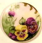 Hand painted pansy button...
