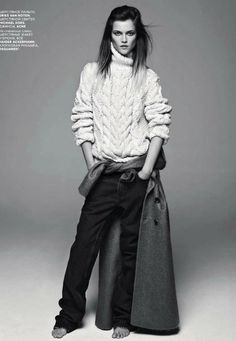 Vogue Russia September 2012 Ph: Claudia Knoepfel & Stefan Indlekofer, Styling: Veronique Didry, Hair: Laurent Philippon, Make-up: Polly Osmond, Model: Kasia Struss Moda Fashion, Daily Fashion, Fashion Beauty, Dandy, Tomboy Chic, Tomboy Style, Tomboy Fashion, Mode Editorials, Fashion Editorials