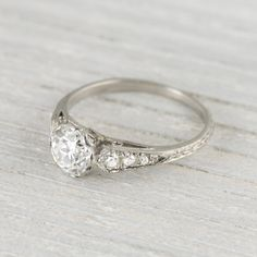 .94 Carat Art Deco Vintage Engagement Ring Circa 1920s
