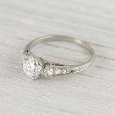 .94 Carat Art Deco Vintage Engagement Ring Circa 1920s