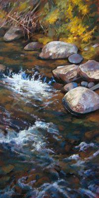 RiverStones XXIV by artist Jill Stefani Wagner   www.jillwagnerart.com   Art for sale.