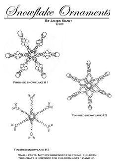 Snowflake Ornament Kit by fairyartandmore on Etsy, $6.00