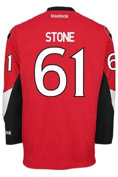 0ff28e1c9 Ottawa Senators Mark STONE  61 Official Home Reebok Premier Replica NHL  Hockey Jersey (HAND