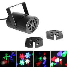 RGBW LED Stage Light Color Changeable Multi-patterns Lights DJ Disco Party Effect Lights Projector Lighting Led US Plug FEN# #Affiliate