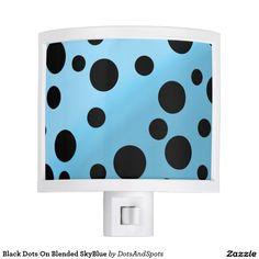 Black Dots On Blended SkyBlue Nite Lite
