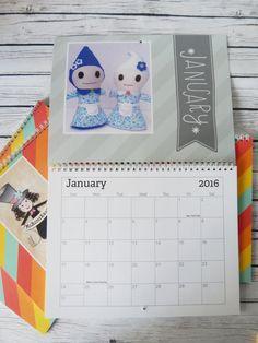 FINAL SALE 2016 Wall Calendar Whimsy Handmades by MsBittyKnacks