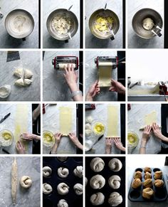 How to make Cruffins (Muffin/Croissants) using a pasta machine