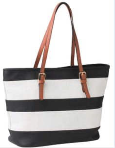 Sacs On Jenkins - Black and White Striped Tote, $99.00 (http://www.sacsonjenkins.com.au/black-and-white-striped-tote/)