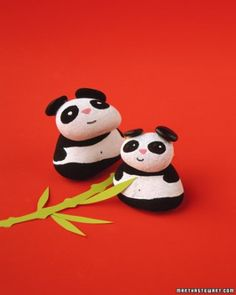 """See the """"Painted Pandas"""" in our Rock Crafts gallery"""