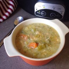 Slow Cooker Chicken Pot Pie Soup (Paleo / Dairy-free / Coconut-free / AIP Variation) | Paleo'ish on a Dime