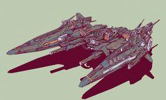 New spaceship art by our good friend Elijah McNeal.    Keywords: concept drone spaceship autonomous vehicle art design illustration render b...