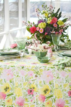 Happy first day of Spring! I'm joining a group of talented bloggers and hopping into Spring with a Spring Tablescape Blog Hop! Look for the links at the bottom of this post for more spring ta…
