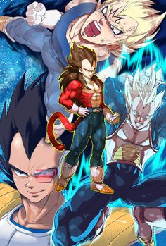 Another awesome collage of Vegeta
