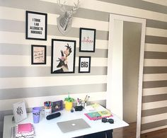 Meu home office finalmente pronto !  | quadros: @nanusstore | mesa: @viverbemmoveiss