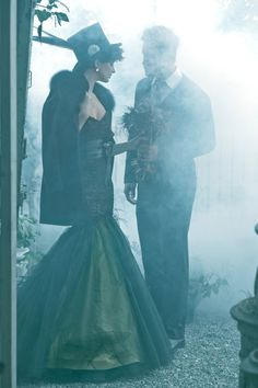 If I don't go gothic for my wedding and go winter or rustic fairy tale instead, maybe a goth photo shoot for the engagement photos.