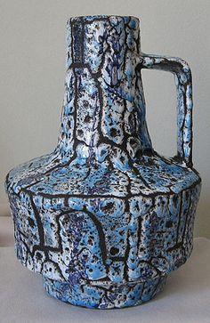 ES Keramik West German Pottery Lava Glaze