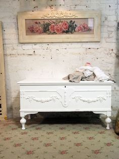 antique hope chest.