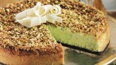Pistachio-White Chocolate Cheesecake