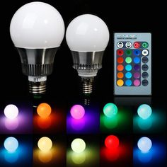 Details Zu 5W/10W E27/E14 RGB LED IR Fernbedienung Farbwechsel Leuchte  Licht Lampe Strahler