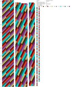 18 around tubular bead crochet rope pattern Bead Crochet Patterns, Bead Crochet Rope, Peyote Patterns, Beading Patterns, Beaded Crochet, Beaded Necklace Patterns, Jewelry Patterns, Beaded Jewelry, Beaded Bracelets