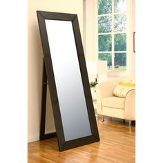 @Overstock - This classic durable 72-inch cheval mirror is richly coated with cappuccino finish, and it's nicely designed with simplistic carvings which enhances its modern characteristics beautifully.