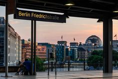 Station with a view - Berlin Friedrichstraße London England Travel, Paris France Travel, City Aesthetic, Travel Aesthetic, Berlin Ick Liebe Dir, Street Photography, Nature Photography, Berlin City, Berlin Berlin