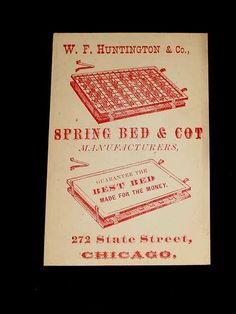 1972 high school football program chicago bears coach john fox 1880 vintage original w f huntington spring bed cot business card chicago otis ebay reheart