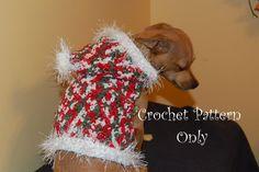 (4) Name: 'Crocheting : Christmas Sparkle Dog Hoodie Sweater
