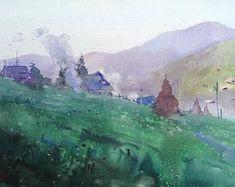 Original watercolor painting от KISILOVWATERCOLOR на Etsy Etsy Seller, Watercolor, Painting, Creative, Art, Pen And Wash, Art Background, Watercolor Painting, Painting Art