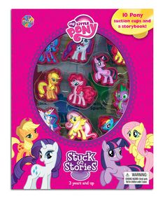 Love this My Little Pony Stuck on Stories Book & Figurine Set by My Little Pony on #zulily! #zulilyfinds