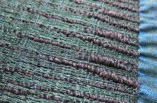 Hand woven. Silk and tube yarn. Volcano. Signe Rand Ebbesen
