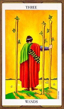 Three of Wands - Tarot Card Meaning & Interpretation