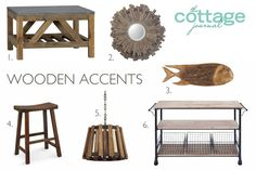 Wooden accents add character and charm to your home, and these picks are among our favorites for a cozy cottage!