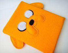 OH MY GLOB YOU GUYS     Felt iPad Sleeve / Case  Jake Adventure Time by yummypocket, $35.00