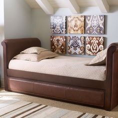 Ethan Leather Daybed - $1125