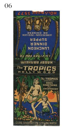The Tropics  #Tiki #matchbook To order your Business' own Branded #matchbooks or #matchboxes GoTo: www.GetMatches.com or CALL 800.605.7331 TODAY! *Check out our Blog: kingmatch.wordpress.com