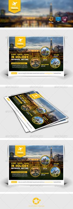 Travel Tours Flyer Templates, aircraft, all inclusive, bars, beach, blue, boat, bora bora, bus, caribbean, catalog, diving, entertainment, fish, grafilker, holiday, island, jellyfish, maldives, ocean, print, sand, sea, sightseeing tours, starfish, swimming, tours, travel, vacation, yacht