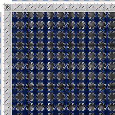 Drawdown Image: Figurierte Muster Pl. XXIX Nr. 3 (b), Die färbige Gewebemusterung, Franz Donat, 8S, 8T