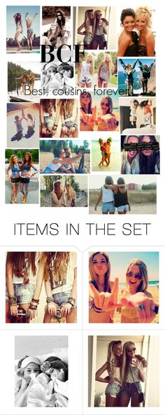 """BCF Best, Cousin, Forever"" by dejonggirls ❤ liked on Polyvore featuring art"