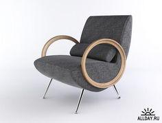 3D модель кресла Milu компании Arketipo