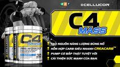 Cellucor C4 Mass độc quyền creatine, beta-alanine, Arginine AKG, bổ sung Creacarb hấp thu nhanh, ngăn hạ đường máu, phù hợp tăng cân, tập gym buổi sáng sớm http://www.thehinhonline.com.vn/sanpham/chitiet/c4-extreme-60
