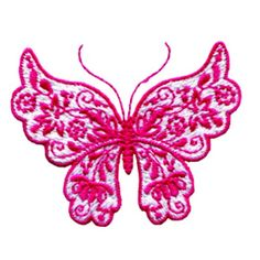 AnnTheGran Free Embroidery Design: Beautiful Butterfly 2.00 inches ...
