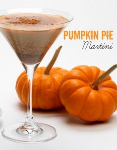 Pumpkin Pie MartinRumChata Pumpkin Pie Martini 2 parts RumChata 1 part vanilla vodka 1 part pumpkin liqueur (or substitute with 3 tbs pumpkin pie filling) Cinnamon Shake with ice and strain into martini glass – sprinkle with cinnamon