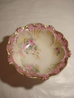 RS Prussia Large Floral Bowl Berry RED Mark