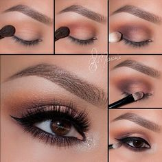 """Amrezy Palette Tutorial 1.Begin by applying """"Vanilla"""" onto the brow bone 2.Take """"Morocco"""" and blend well into the crease and slightly above 3.Using """"Deep Plum"""" apply it to the outer corner of the eyes and sweeping the color in the crease to keep it darkest in the outer corner  4.Take """"Glisten"""" onto a flat Brush and pat on the lid 5.Line the waterline using Covet eyeliner in Noir and smudge out with """"LBD"""" using a bit more """"Morocco"""" blend right underneath """"LBD"""" for a nice gradient effect"""