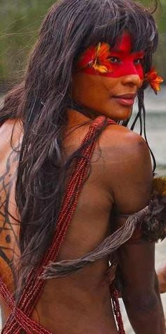 THE NATIVE PEOPLE OF BRAZIL - The bright and beautiful natives of Brazil. In 2007 the National Indian Foundation or FUNAI (a Brazilian governmental protection agency for Indian interests and their culture) reported that it had confirmed the presence of 67 different un-contacted tribes in Brazil. Brazil has now the largest number of un-contacted peoples.
