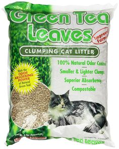 Green Tea Leaves Cat Litter - 7 liters *** Trust me, this is great! Click the image. : Cat litter