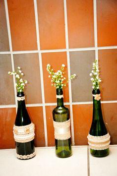 Flores en botellas! Just love it!! #garrafas #flores