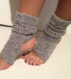 yoga socks hand knit  Pilates Socks   women by CELINICRAFTS
