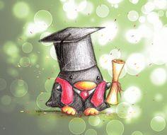 Graduate Penguin by B-Keks on DeviantArt Penguin Drawing, Penguin Art, Penguin Love, Cute Penguins, Penguin Clipart, Cute Cartoon Drawings, Kawaii Drawings, Easy Drawings, Color Draw